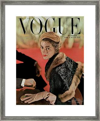 Vogue Cover Featuring Carmen Dell'orefice Framed Print by John Rawlings