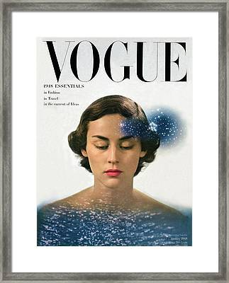 Vogue Cover Featuring Joan Petit Framed Print