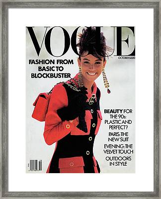 Vogue Cover Featuring Kara Young Framed Print by Patrick Demarchelier