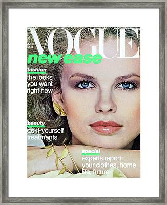 Vogue Cover Featuring Lisa Taylor Framed Print
