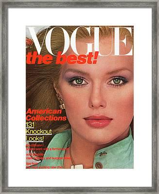Vogue Cover Featuring Patti Hansen Framed Print by Albert Watson