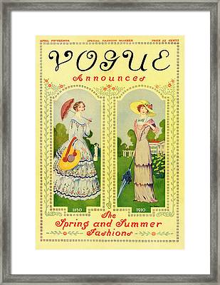 Vogue Cover Featuring Two Nineteenth Century Framed Print