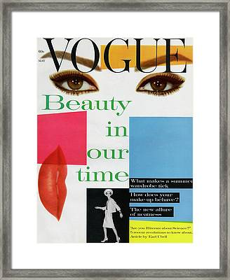 Vogue Cover Illustration Of A Collage Featuring Framed Print by Artist Unknown