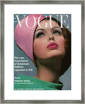 Vogue Cover Of Dorothy Mcgowan Framed Print by Bert Stern