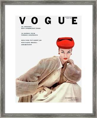 Vogue Cover Of Janet Randy Framed Print