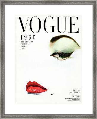 Vogue Cover Of Jean Patchett Framed Print by Erwin Blumenfeld