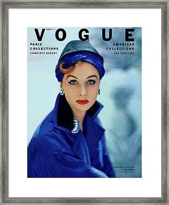 Vogue Cover Of Suzy Parker Framed Print