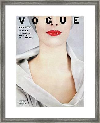 Vogue Cover Of Victoria Von Hagen Framed Print
