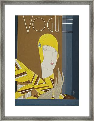 Vogue Magazine Cover Featuring A Portrait Framed Print
