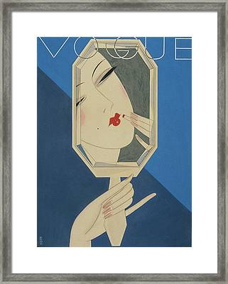 Vogue Magazine Cover Featuring A Reflection Framed Print