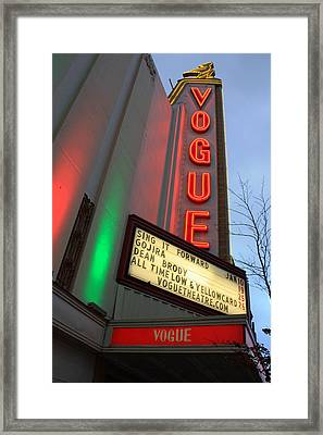 Vogue Theatre Framed Print