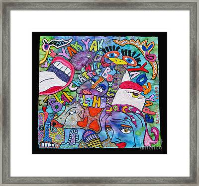 Voices In My Head Framed Print by Susan Sorrell