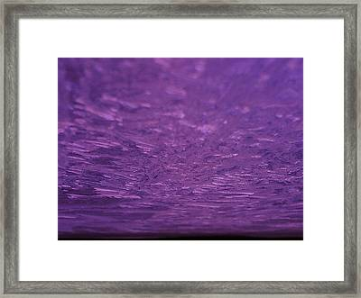 Voilet Ice Planet Framed Print by Jaime Neo