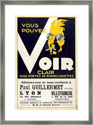 Voir Clair Framed Print