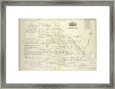 Vol. 1. Plate, L. Map Bound By Decatur St., Broadway Framed Print