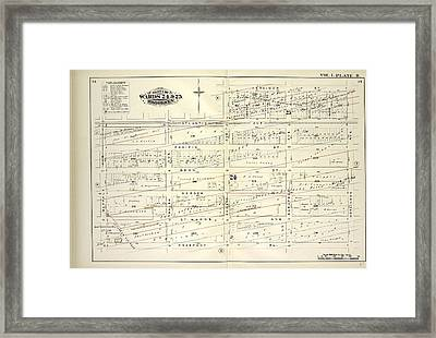 Vol. 1. Plate, R. Map Bound By Atlantic Ave., Herkimer St Framed Print