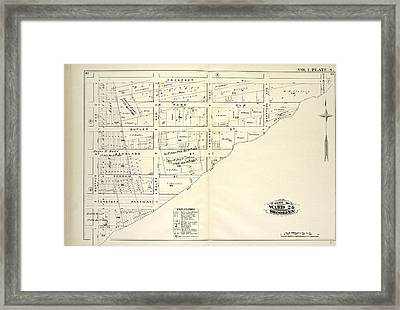 Vol. 1. Plate, S. Map Bound By Prospect Pl., Hopkinson Ave Framed Print