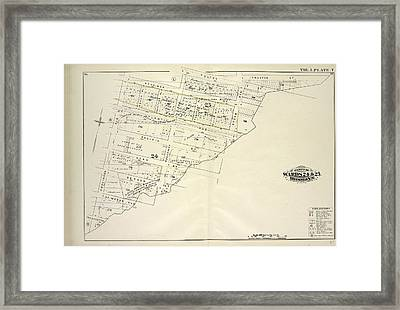 Vol. 1. Plate, T. Map Bound By Herkimer St., Rockaway Ave Framed Print