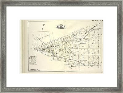 Vol. 2. Plate, A. Map Bound By Bayard Sanford St., Meeker Framed Print by Litz Collection