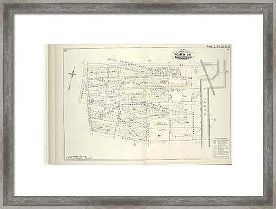 Vol. 2. Plate, F. Map Bound By Grand St., Canal, Meserole Framed Print by Litz Collection