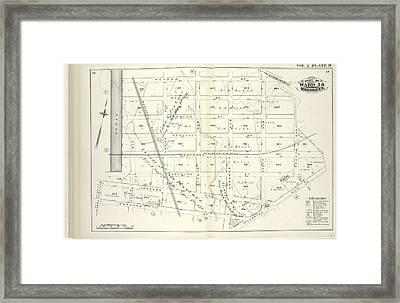 Vol. 2. Plate, H. Map Bound By Meadow St., Metropolitan Framed Print