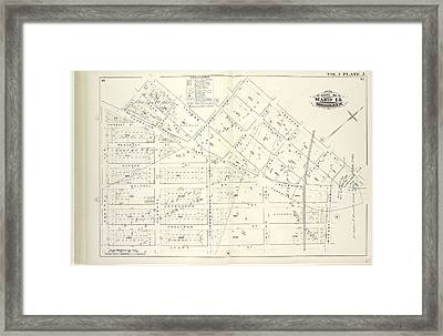 Vol. 2. Plate, J. Map Bound By Bogart St., Thames St Framed Print by Litz Collection
