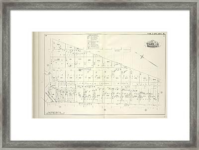 Vol. 2. Plate, K. Map Bound By City Line, Greene St Framed Print