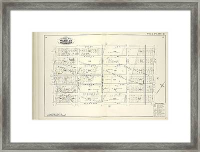 Vol. 2. Plate, M. Map Bound By Starr St., Wyckoff Ave Framed Print