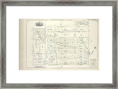 Vol. 2. Plate, N. Map Bound By La Fayette Ave., Himrod St Framed Print