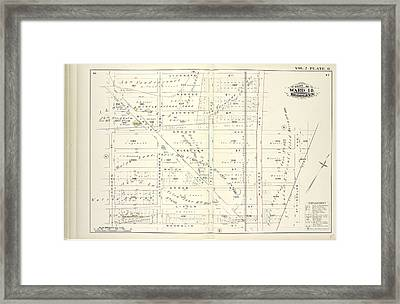 Vol. 2. Plate, O. Map Bound By Stanhope St., Wyckoff Ave Framed Print