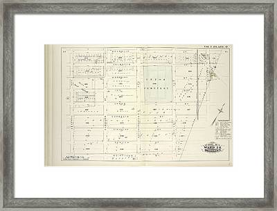 Vol. 2. Plate, Q. Map Bound By Magnolia St., City Line Framed Print