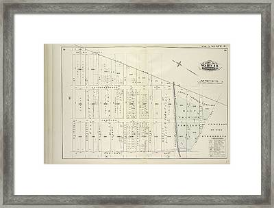 Vol. 2. Plate, R. Map Bound By City Line, Cemetery Lane Framed Print