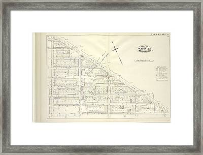 Vol. 4. Plate, A. Map Bound By Atlantic Ave., Flatbush Framed Print by Litz Collection