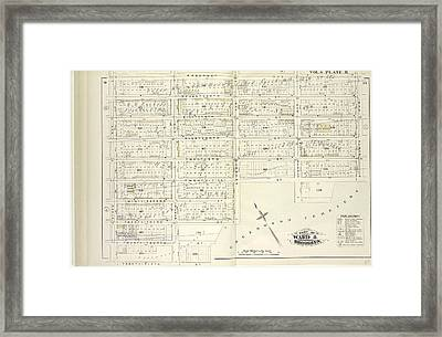 Vol. 4. Plate, H. Map Bound By Prospect Ave., Ninth Ave Framed Print by Litz Collection