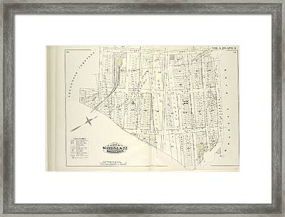 Vol. 4. Plate, I. Map Bound By Ninth Ave., Prospect Park Framed Print by Litz Collection