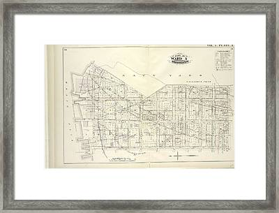 Vol. 5. Plate, A. Map Bound By U.s. Navy Yard, Concord St Framed Print by Litz Collection