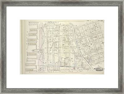 Vol. 5. Plate, C. Map Bound By Poplar St., Sands St., Jay Framed Print