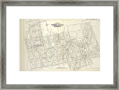 Vol. 5. Plate, D. Map Bound By Sands St., U.s. Navy Yard Framed Print