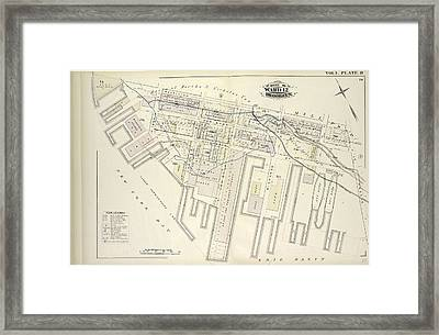 Vol. 5. Plate, R. Map Bound By Partition St Framed Print by Litz Collection