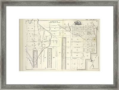 Vol. 5. Plate, S. Map Bound By Lorraine St., Hamilton Ave Framed Print
