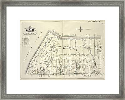 Vol. 6. Plate, D. Map Bound By Whale Creek Canal, Green Framed Print