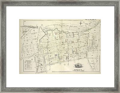 Vol. 6. Plate, E. Map Bound By Whale Creek Canal, Humboldt Framed Print
