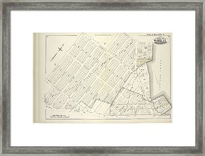 Vol. 6. Plate, G. Map Bound By Norman Ave. Kingsland Ave Framed Print