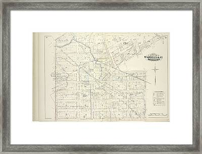 Vol. 6. Plate, H. Map Bound By Van Cott Ave., Van Pelt Framed Print by Litz Collection