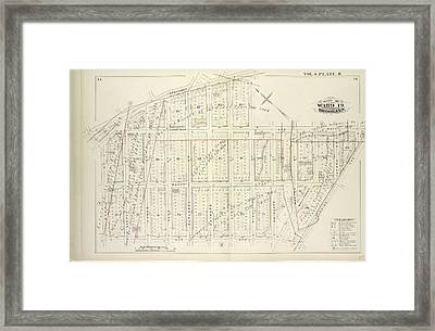 Vol. 6. Plate, R. Map Bound By Broadway, Middleton St Framed Print by Litz Collection