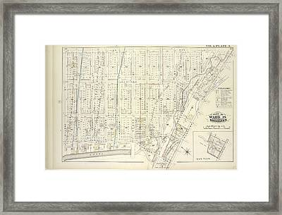 Vol. 6. Plate, S. Map Bound By Lee Ave., Flushing Ave Framed Print by Litz Collection