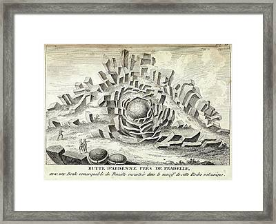 Volcanic Basalt Formations Framed Print by Royal Institution Of Great Britain