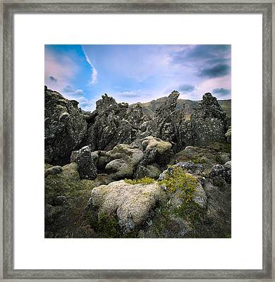 Volcanic Basalt Lava Landscape Framed Print