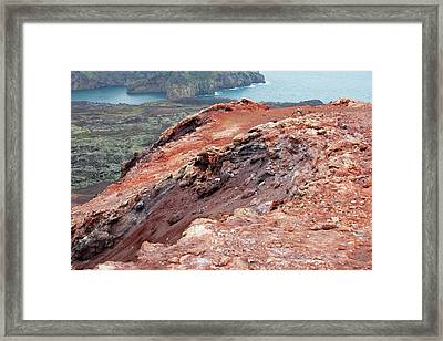 Volcanic Cone Framed Print by Ashley Cooper