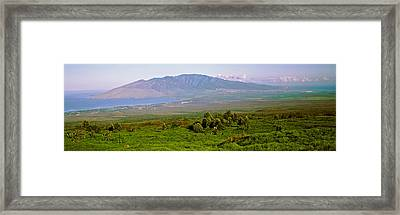 Volcanic Crater, Koko Crater, Honolulu Framed Print by Panoramic Images